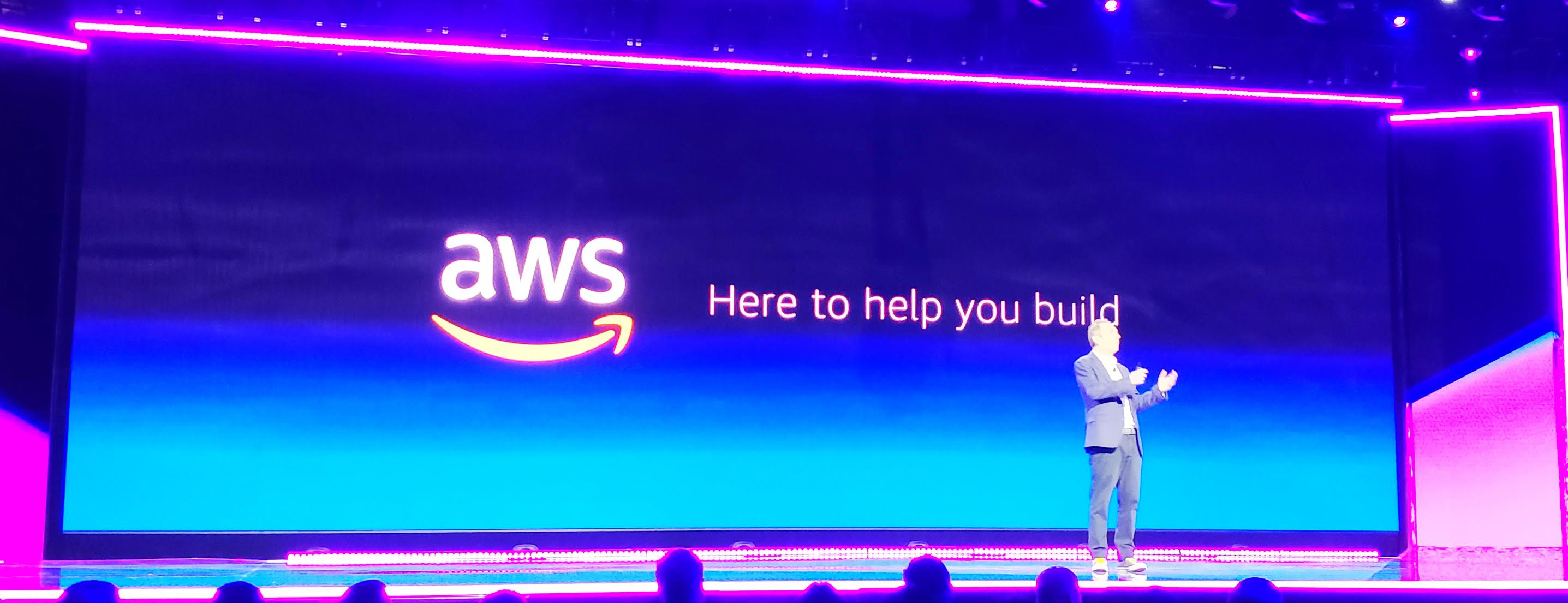 AWS CEO Andy Jessy on stage at re:Invent 2018