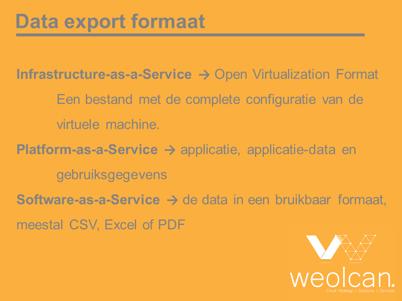 data export formaten bij een cloud exit strategie